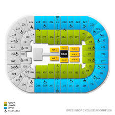 Greensboro Coliseum Detailed Seating Chart Greensboro Coliseum Concert Seating 76 Greensboro Coliseum