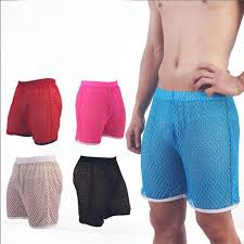 <b>Woxuan</b> Summer Style <b>Breathable Mesh</b> Grid Men Casual Shorts ...