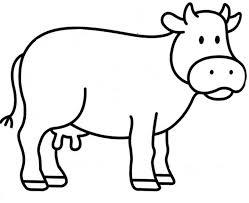 Coloriage Vache Facile Dessin A Imprimer L Duilawyerlosangeles