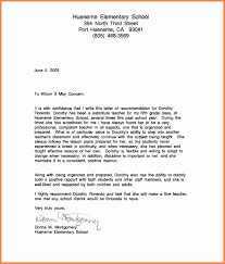 Letter To Substitute Teacher Template Sample Letter Of Recommendation For Substitute Teaching Position