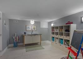 office playroom ideas. View In Gallery Artificial Lighting Takes Over This Simple Basement Playroom Office Ideas