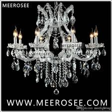 hot ing maria theresa clear white crystal chandelier lamp er cristal pendelleuchte light fixture top quality 8 lights orb chandelier chandelier