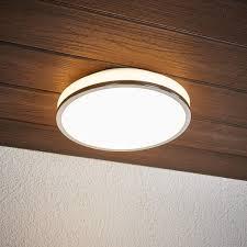 Led Deckenlampe Lyss Rund Ip44 Bad Chrom Glas Deckenleuchte Led