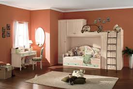 Natural Cherry Bedroom Furniture Sweet Girl Teenage Bedroom Design And Decoration Using Red Orange