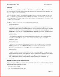 Resume Template Microsoft Word 2007 Lovely 34 Microsoft Resume