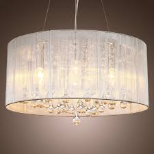 modern drum pendant lighting. lightinthebox modern silver crystal pendant light in cylinder shade drum style home ceiling fixture flush mount chandeliers lighting e
