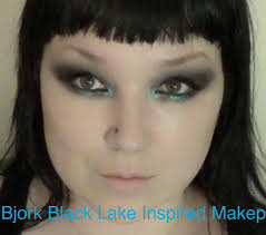 bjork black lake inspired makeup tutorial