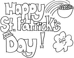 St Patricks Day Coloring St Patricks Day Coloring Sheet 123baking Club