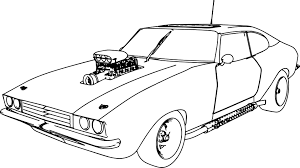 Small Picture Muscle Car 70 Old Sport Car Coloring Page Wecoloringpage