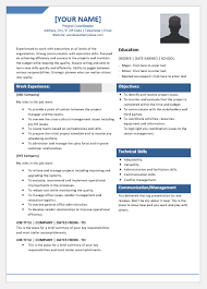 Project Coordinator Resume Template For Word Word Excel