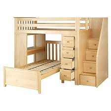 loft bed with desk and dresser. Modren Dresser Plank U0026 Beam Staircase Combo Loft Bed  Desk Dresser Twin Bed Natural In With And I