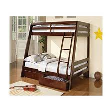 Amazon.com: Monarch Specialties Bunk Bed with Storage Drawers, 78 ...