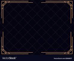Art Deco Border Designs Art Deco Frame Vintage Linear Border Design
