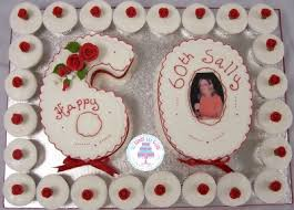 Number 60 Cupcakes Birthday Cake All Cakes And Sizes