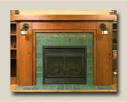 craftsman fireplace tile arts craft fireplace using 6 x 6 field tiles and pine border tile