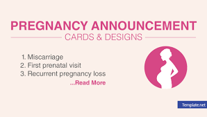 Pregnancy Template 16 Pregnancy Announcement Card Design Templates Psd Ai