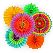 Vibrant Bright Colors Hanging Paper ...
