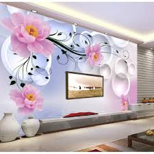 fantasy flowers 3d fashion large wall mural painting living room 3d wall painting designs for bedroom