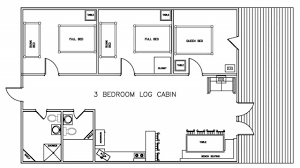 Elegant 3 Bedroom Cabin Plans Modern Designs Small Cabins With Loft For