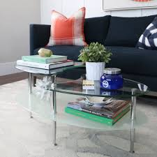 oval coffee table with frosted glass  free shipping today
