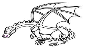 Top Minecraft Ender Dragon Coloring Pages For Children Coloring Pages