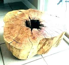 tree trunk coffee table uk glass with base stump pin it kitchen beautiful top
