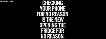 checking your phone for no reason cover
