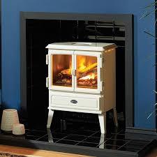 dimplex auberry cream white electric opti myst stove