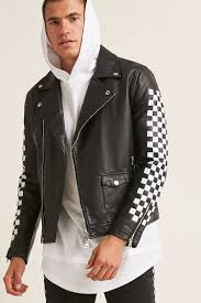 checd faux leather jacket