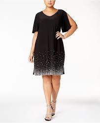 Msk Dresses Size Chart Plus Size Beaded Shift Dress