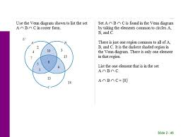 Which Statement Describes The Shaded Region In The Venn Diagram Slide Chapter 2 Sets Slide Set Concepts Ppt Download