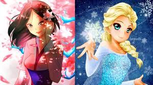 Khi những nhân vật hoạt hình nổi tiếng của Disney được vẽ theo phong cách  Anime - YouTube