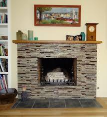 brick fireplace look modern
