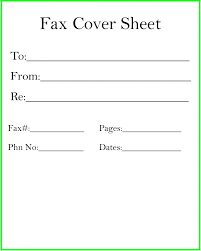 Fax Cover Sheet 10692620000052 Free Fax Template Image