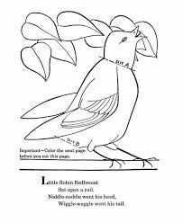 Small Picture Little Robin Redbreast Coloring Page Download Print Online