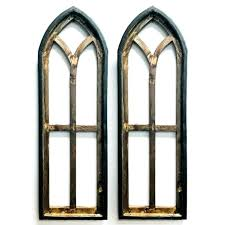 tall arched wooden window frame panel set of 2 antique farmhouse wooden window frame wooden window