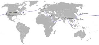 around the world in eighty days  total 80 days map of the trip