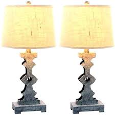 pewter table lamps 2 piece lamp set dark of style finish antique