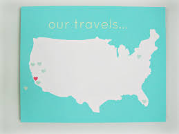 Diy Canvas United States Our Travels Diy Customize Map 16x20 Canvas