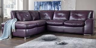leather corner sofa purple leather