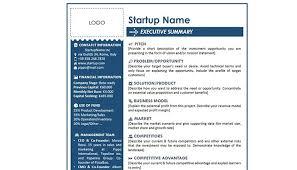 Executive Sumary Executive Summary Beispiele Template Gründerküche