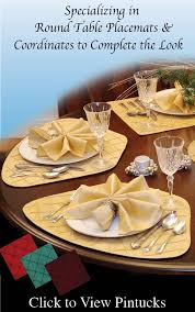 round table wedge placemats sweet pea linens usa made curved placemats for round table