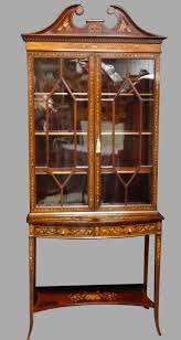 fernyhough antiques ltd late victorian mahogany mirror back display cabinet
