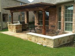 Exterior  Backyard Patio Ideas With Grill Traditional Compact Backyard Kitchen