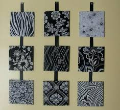 fabric art wall hanging ideas top sample pictures making nine panel design using stretch beautiful black