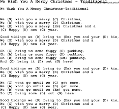 Song We Wish You A Merry Christmas by Traditional, song lyric for ...