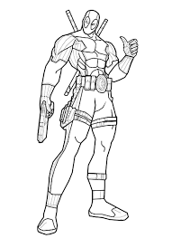 Best Printable Deadpool Coloring Pages Free 3569 Printable