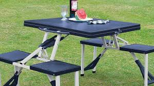 folding picnic table and chair set designs