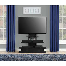 black freestanding tv stand with mount and drawers of cool tv