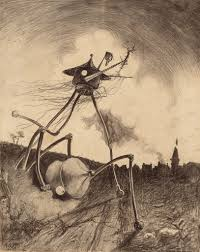 horrifying illustrations of h g wells war of the worlds war2